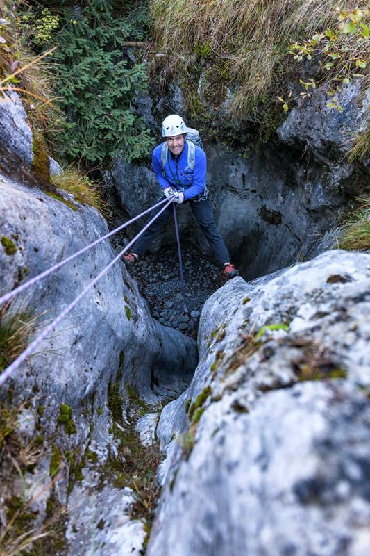 In inverno si possono scendere canyon a secco, la conformazione è la stessa...